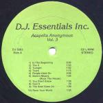 Various - Acapella Anonymous Vol. 3 - DJ Essentials Inc. - DJ Turntablist Tools