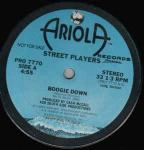 Street Players  - Boogie Down - Ariola Records America - Disco