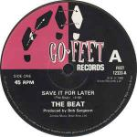 The Beat  - Save It For Later - Go-Feet Records - Ska